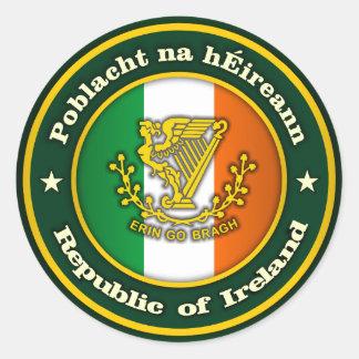Irish Medallion 2 Classic Round Sticker