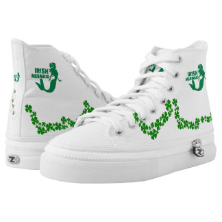 Irish Mermaid HiTops Printed Shoes