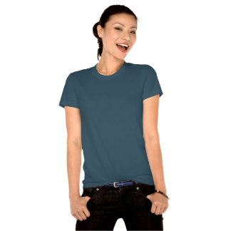 Irish Mermaid Ladies Organic T-Shirt Fitted Blue