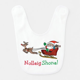 Irish Merry Christmas Nollaig Shona Baby Bibs