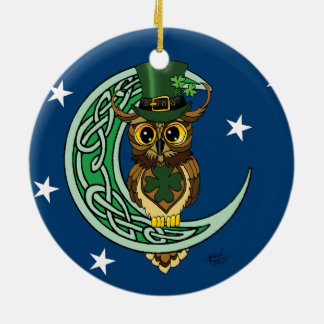 Irish Moon Christmas Ornament