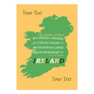Irish Music Tune Sheet Music Map of Ireland Card Pack Of Chubby Business Cards