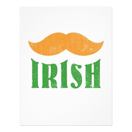 Irish mustache full color flyer