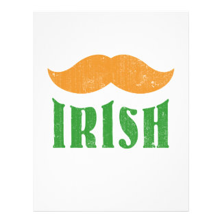 Irish mustache full color flyer