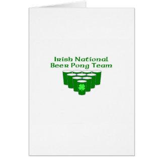 Irish National beer Pong Team Cards