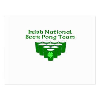 Irish National beer Pong Team Post Card