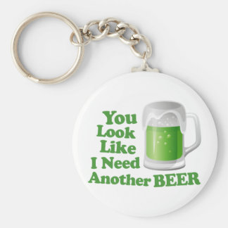 Irish Need Another Beer Basic Round Button Key Ring