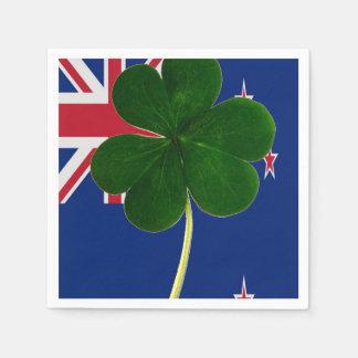 Irish New Zealand Flag Shamrock Clover St. Patrick Disposable Napkin