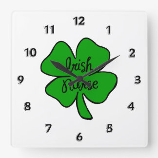 Irish Nurses Square Wall Clock