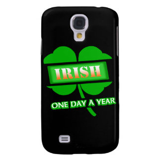 Irish One Day A Year With 4-Leaf Clover, Angled Galaxy S4 Case