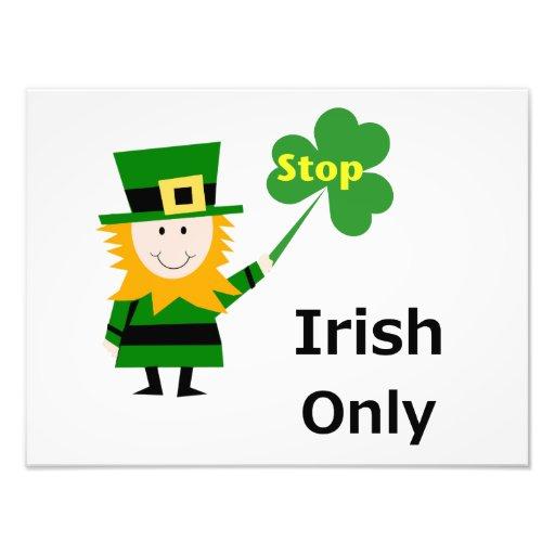Irish Only Photograph