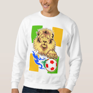 Irish or Côte d'Ivoire Soccer Lion Sweatshirt