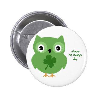 Irish Owl 6 Cm Round Badge