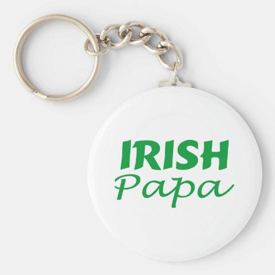 Irish Papa Basic Round Button Key Ring
