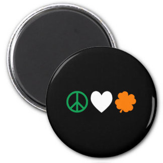 Irish Peace Love & Shamrocks Magnet
