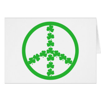 Irish peace shamrock card