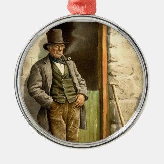 Irish Peasant Farmer 1890 Christmas Ornament