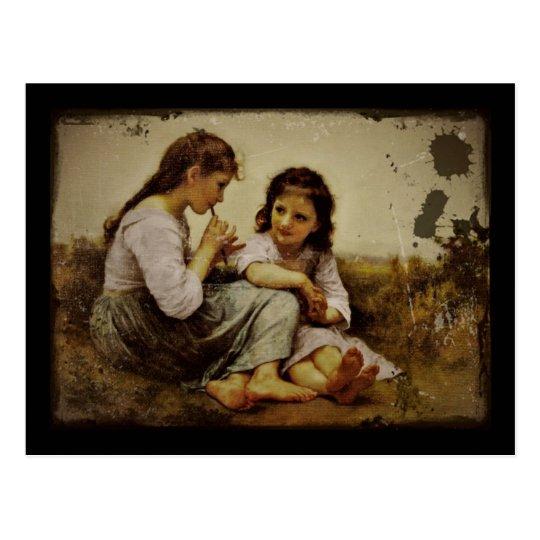 Irish Penny Whistle Girls Postcard