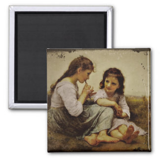 Irish Penny Whistle Girls Square Magnet