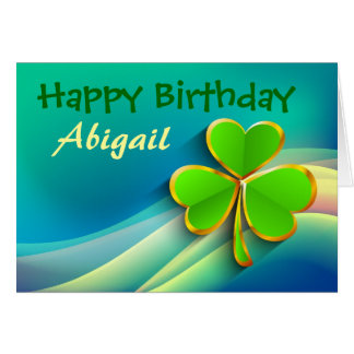 Irish Personalized Birthday Card