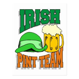 Irish Pint Drinking Team Postcard