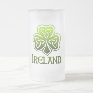 Irish Pint Frosted Glass Beer Mug