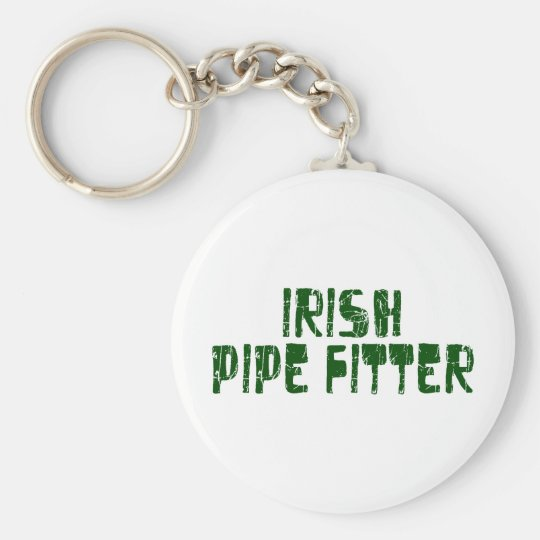 Irish Pipe Fitter Basic Round Button Key Ring