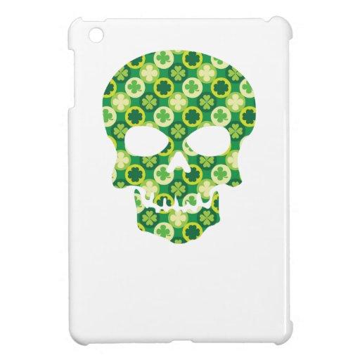 Irish Pirate Shamrock Skull iPad Mini Cases