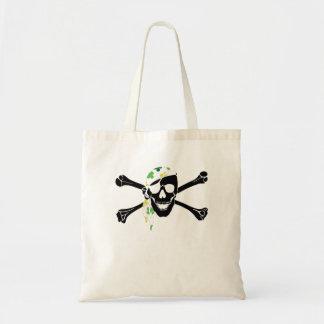 Irish Pirate Skull And Crossbones Canvas Bags