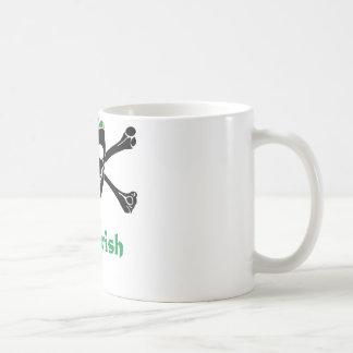 Irish Pirate Skull And Crossbones Coffee Mug