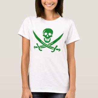 Irish Pirate Skull Flag T-Shirt