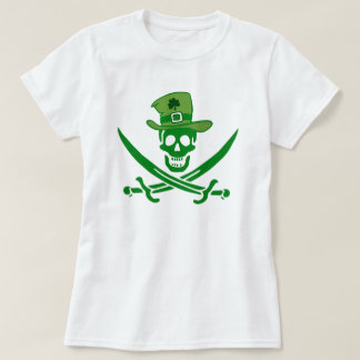 Irish Pirate Skull Flag T-Shirt