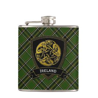 Irish Plaid Celtic Symbol Flasks