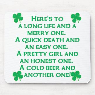Irish Poem Mouse Pad