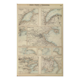 Irish Ports and Harbours Poster