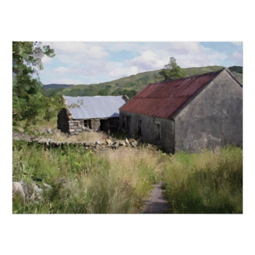 Irish Potters Barn Poster