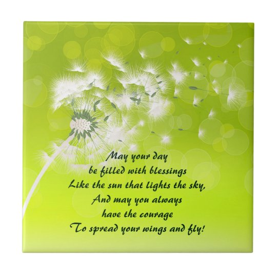 Irish Prayer for Blessings Ceramic Tile