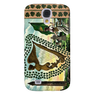 Irish Pride Ireland s Emblems golden harp clovers Galaxy S4 Covers