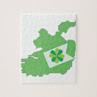 Irish Pride Shamrock Jigsaw Puzzles