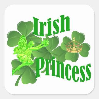 Irish princess and fairy square sticker