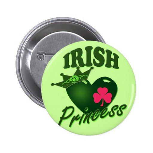 Irish Princess Pinback Button