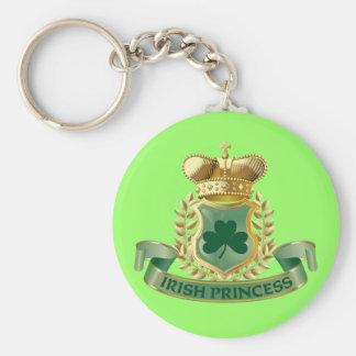 Irish Princess Basic Round Button Key Ring