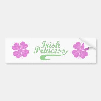 Irish Princess Car Bumper Sticker