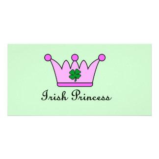 irish princess crown custom photo card