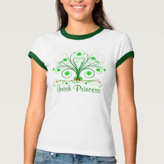 Irish Princess Fancy Shamrock Tree Ladies T-shirt