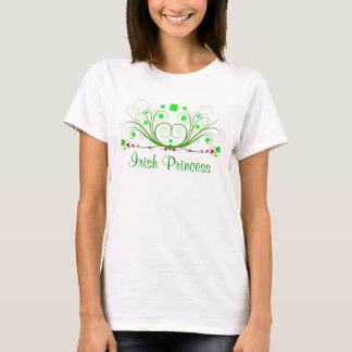 Irish Princess Fancy Shamrocks Ladies  T-shirt
