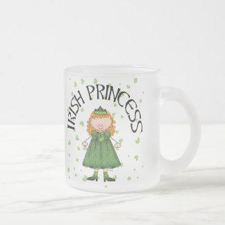 Irish Princess Redhead Frosted Glass Mug