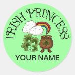 Irish Princess Shamrocks Pot Of Gold Stickers