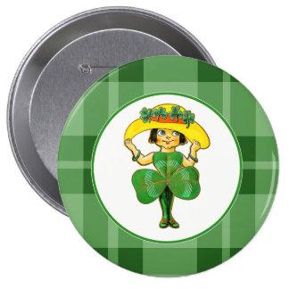 Irish Princess. St. Patrick's Day Gift Buttons Pin