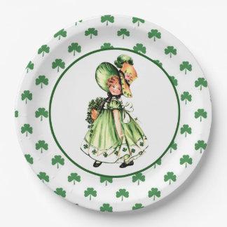 Irish Princess.St.Patrick's Day Party Paper Plates